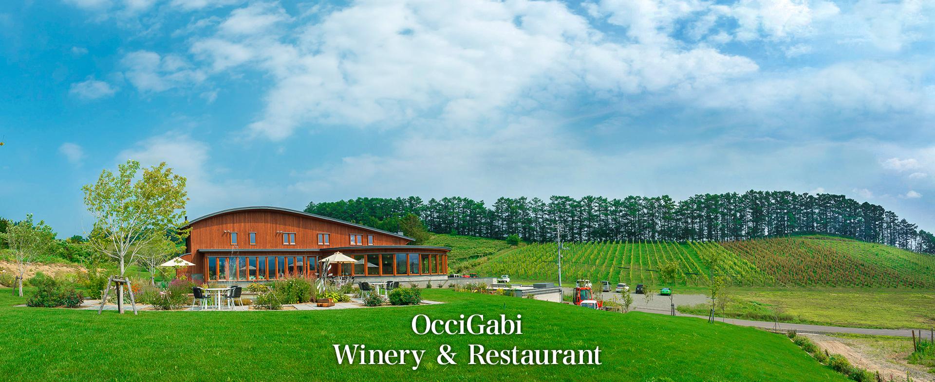 ぶどう畑の中のワイナリー・レストラン OcciGabi